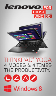 Lenovo Yoga. 4 Modes & 4 Times the Productivity!