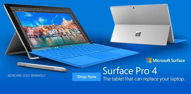 Microsoft Surface Pro 4 Shop Now