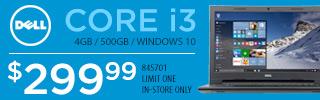 Dell Core i3 Laptop $299.99