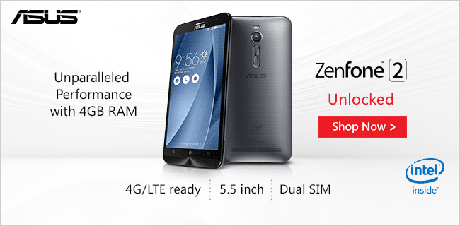 ASUS Zenfone 2 Unlocked Shop Now