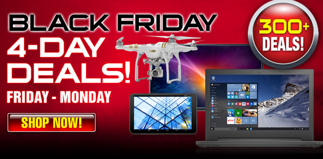 Black Friday 4-Day Deals - Shop Now