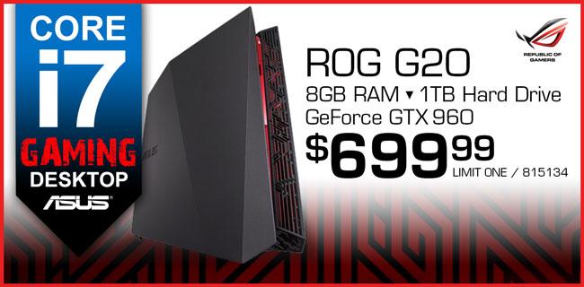 ASUS ROG i7 Gaming Desktop - $699.99