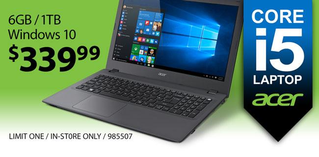 Acer Core i5 Laptop - $339.99