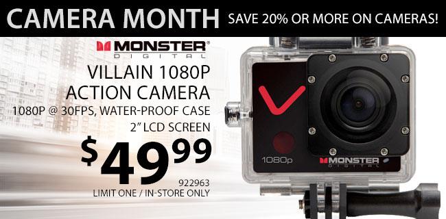 Monster Digital Villain 1080P Action Camera - $49.99