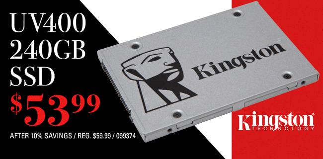 Kingston UV400 240GB SSD - $53.99