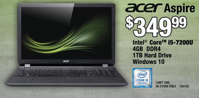 Acer Aspire Core i5 $349.99