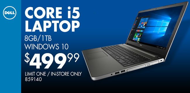 Dell Core i5 Laptop - $499.99