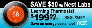 Nest Learning Thermostat $199.99