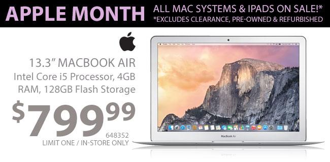 Apple MacBook Air - $799.99