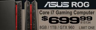 ASUS ROG Core i7 Gaming Desktop $699.99
