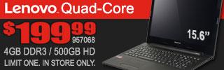 Lenovo Quad-Core Laptop $199.99