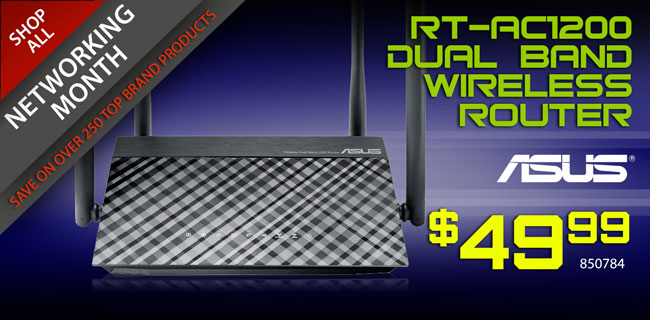 ASUS RT-AC1200 Dual Band Wireless Router - $49.99