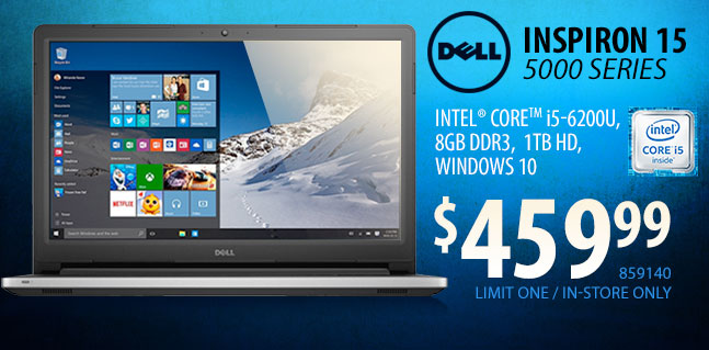 Dell Inspiron 15 5000 Laptop - $459.99