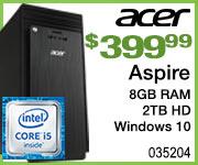 Acer Aspire Desktop $399.99