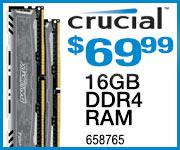 Crucial 6GB DDR4 RAM $69.99