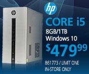 HP Core i5 Desktop - $479.99