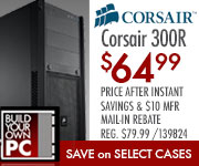 Corsair #00R Computer Case $64.99 after $10 MIR