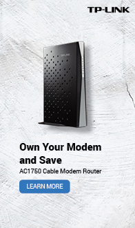 Owen Your Modem and Save. TP-LINK AC1750 Cable Modem Router