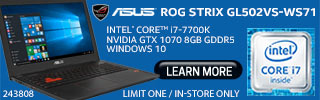ASUS ROG Strix GL502VS-WS71 Laptop - Learn More