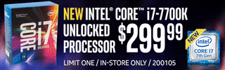 NEW Intel Core i7-7700K Processor - $299.99