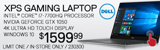 Dell XPS Gaming Laptop - $1599.99