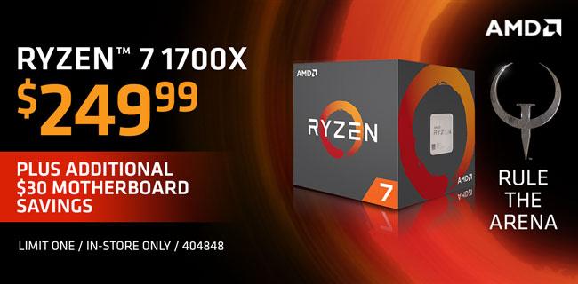 AMD Ryzen 7 1700X - $249.99