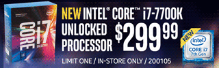 Intel Core i7-7700K Processor - $299.99