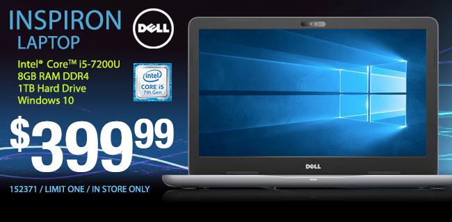 Dell Inspiron Laptop $399.99