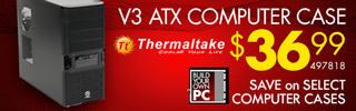 Thermaltake V3 Computer Case - $36.99