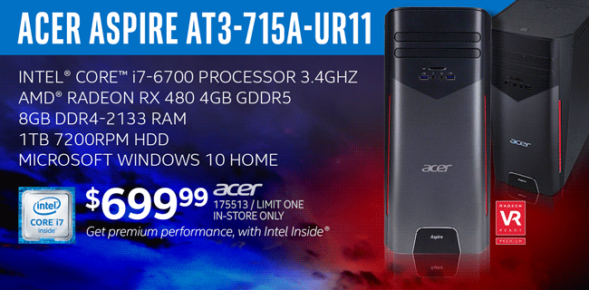 Acer Aspire AT3-715A-UR11 Desktop - $699.99