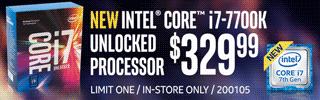 NEW Intel Core i7-7700K Processor - $329.99