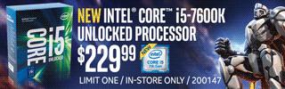 NEW Intel Core i5-7600K Processor - $229.99