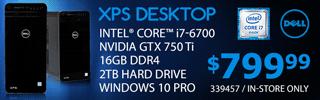Dell XPS Desktop - $799.99