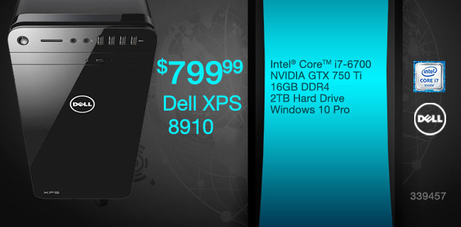 Dell XPS 8910 Desktop $799.99
