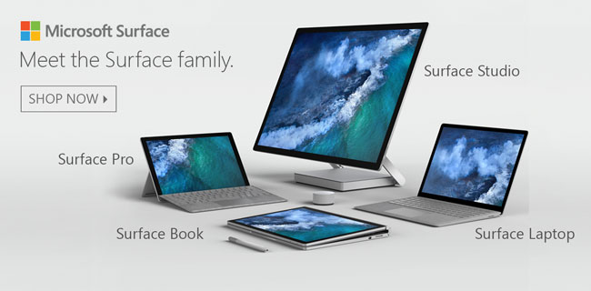 Meet the Surface Family - Shop Now