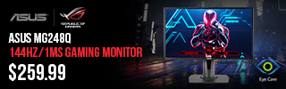 ASUS MG248Q Gaming Monitor - $259.99