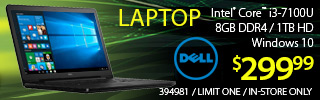 Dell Laptop - $299.99