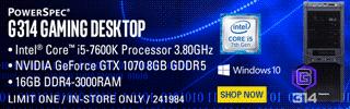PowerSpec G314 Gaming Desktop - SHOP NOW