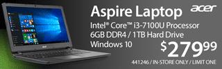 Acer Aspire Laptop - $279.99