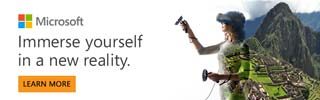 Microsoft - Immerse yourself in a new reality - Learn More