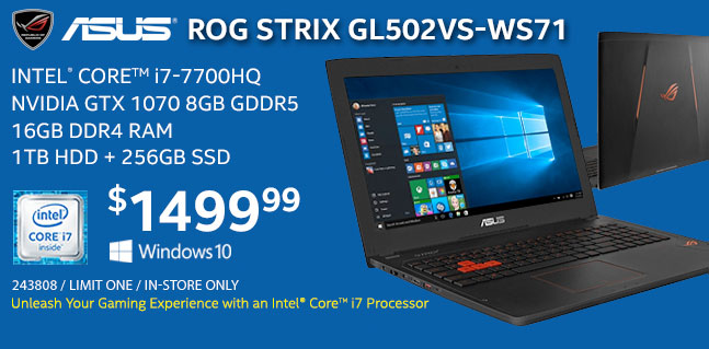 ASUS ROG STRIX GL502VS-WS71 Laptop - $1499.99