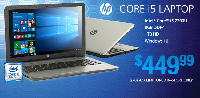 HP Core i5 Laptop - $449.99