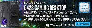 PowerSpec G428 Gaming Desktop - SHOP NOW