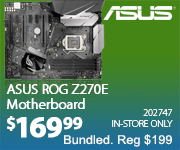 ASUS ROG Z720E Motherboard $169.99 Bundled