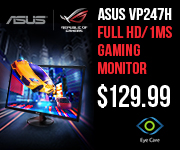 ASUS VP247H Gaming Monitor - $129.99