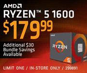 AMD Ryzen 5 1600 - $179.99