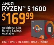 AMD Ryzen 5 1600 - $169.99