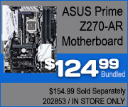 ASUS Prime Z270-AR Motherboard $124.99 Bundled