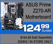 ASUS Prime Z270-AR Motherboard $124.99 Bundled