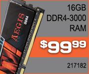 G. Skill 16GB DDR4-3000 RAM $99.99
